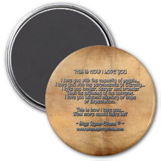 """""""THIS IS HOW I LOVE YOU"""" Love Poetry Magnet"""
