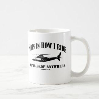 This Is How I Ride Coast Gaurd Chopper Coffee Mug