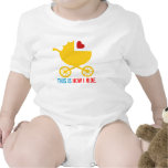 This is How I Ride Modern Baby Shower Gift Tshirts