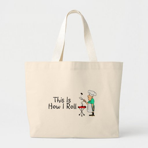 This Is How I Roll BBQ Jumbo Tote Bag