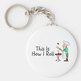 This Is How I Roll BBQ Keychain