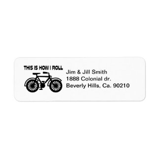 This Is How I Roll Bicycle Label