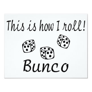 This Is How I Roll Bunco Card