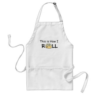 This is How I Roll Cartoon Cinnamon Roll Funny Bun Adult Apron
