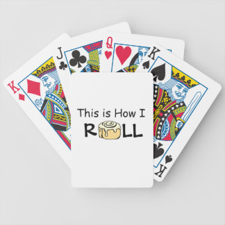 This is How I Roll Cartoon Cinnamon Roll Funny Bun Bicycle Playing Cards
