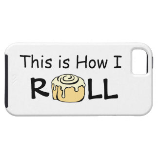 This is How I Roll Cartoon Cinnamon Roll Funny Bun iPhone SE/5/5s Case