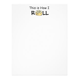 This is How I Roll Cartoon Cinnamon Roll Funny Bun Letterhead