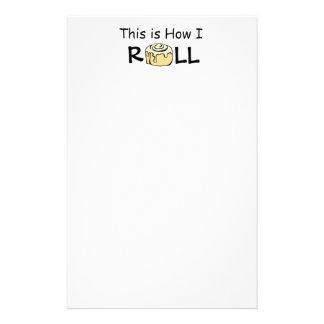 This is How I Roll Cartoon Cinnamon Roll Funny Bun Stationery