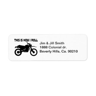 This Is How I Roll Dirt Bike Label