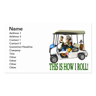 This Is How I Roll Double-Sided Standard Business Cards (Pack Of 100)