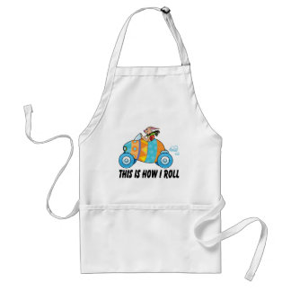 This Is How I Roll Easter Bunny Adult Apron