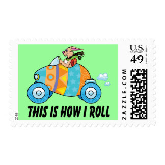 This Is How I Roll Easter Bunny Postage