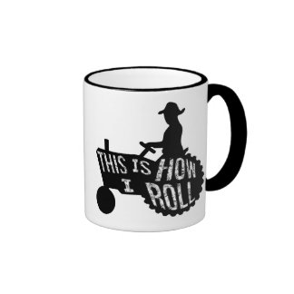 This is How I Roll  Farmer Style Ringer Mug