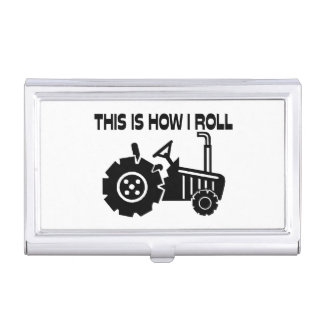 This Is How I Roll Farming Tractor Case For Business Cards