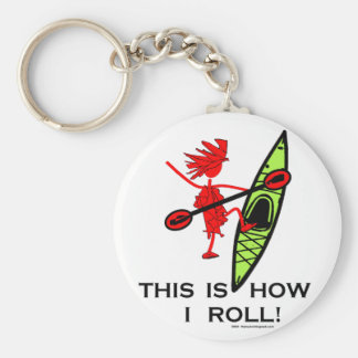 This is how I roll (Kayak) Keychain