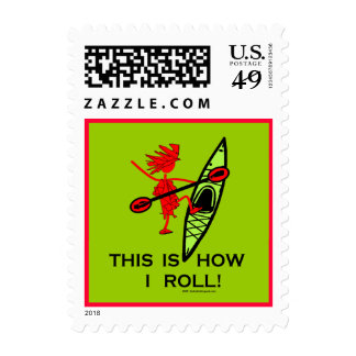 This is how I roll (Kayak) Stamp