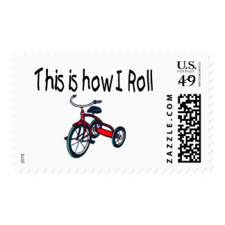 This Is How I Roll (Red Tricycle) Postage