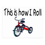 This Is How I Roll (Red Tricycle) Postcard
