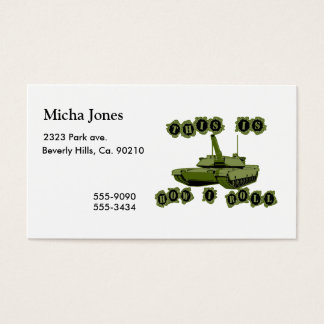 This Is How I Roll Tank Business Card