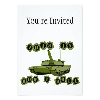 "This Is How I Roll Tank 5"" X 7"" Invitation Card"
