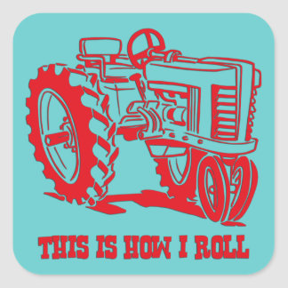 This Is How I Roll Tractor RED Sticker