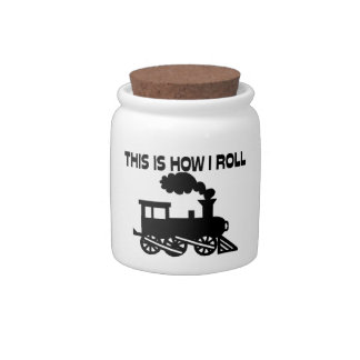 This Is How I Roll Train Candy Jars