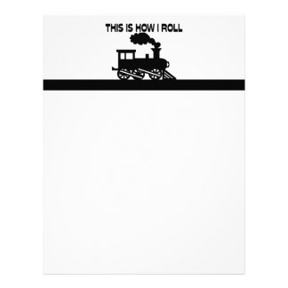 This Is How I Roll Train Letterhead