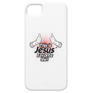 This is Jesus Favorite Shirt - Holiday Humor iPhone 5 Cover