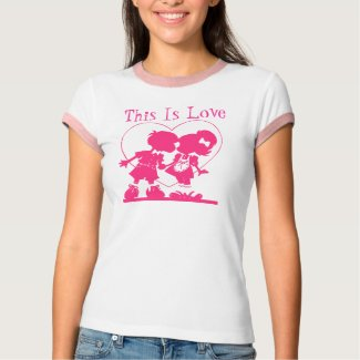 This Is Love Boy & Girl Kiss Valentines Day Design shirt