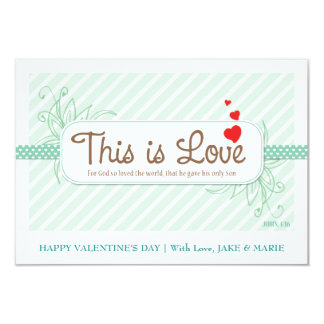 This Is Love Valentine's card (Mint Green) Personalized Invitation