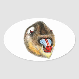 THIS IS MANDRILL OVAL STICKER