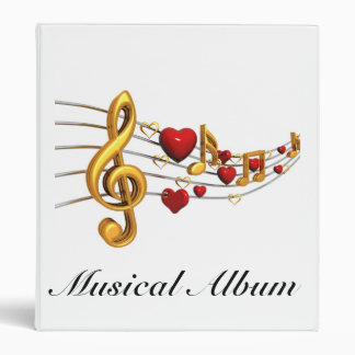 This is Musical Album in gold notes Binder