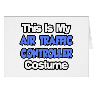 This Is My Air Traffic Controller Costume Card
