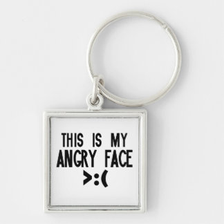 This is my Angry Face Keychains