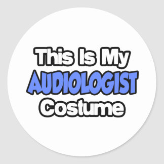 This Is My Audiologist Costume Classic Round Sticker