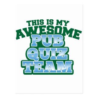 This is my AWESOME Pub Quiz Team Postcard
