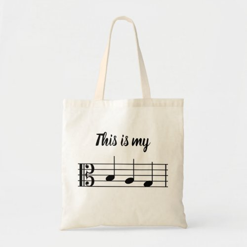 This is my B_A_G alto clef Tote Bag