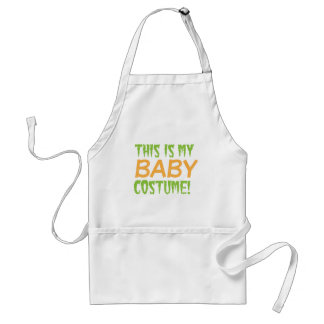This is my BABY Costume Halloween design Adult Apron