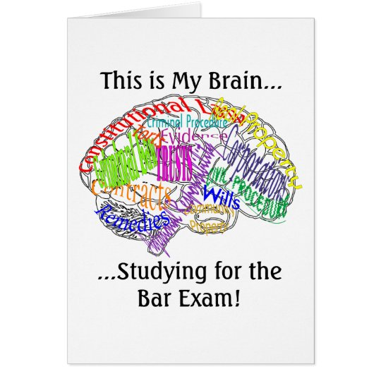 This is my brain...Bar Exam Card