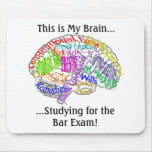 This is my brain...Bar Exam Mouse Pad