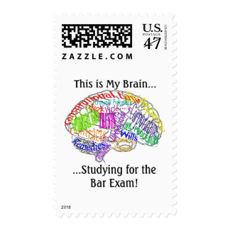 This is my brain...Bar Exam Postage Stamp