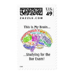 This is my brain...Bar Exam Postage Stamps