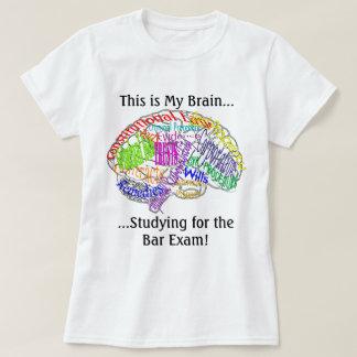 This is my brain...Bar Exam Tshirt