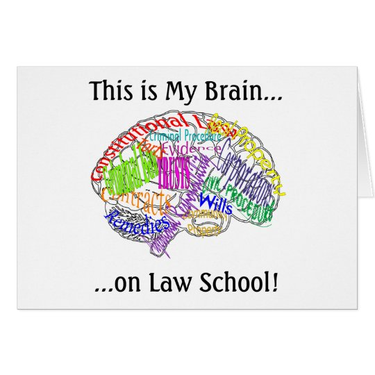 This is my brain...Law School Card