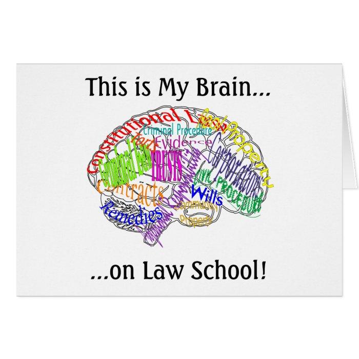 This is my brain...Law School Card