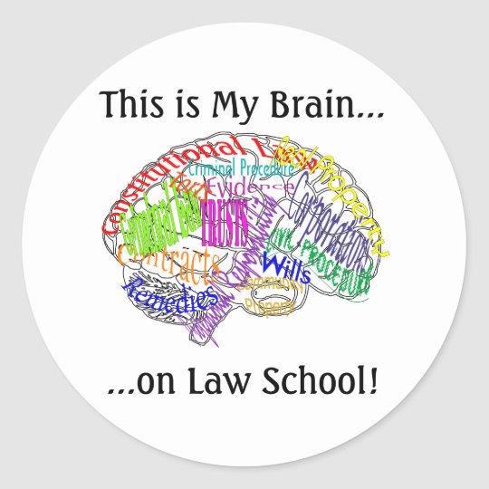 This is my brain...Law School Classic Round Sticker