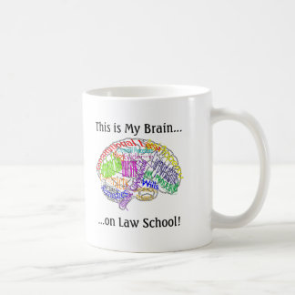 This is my brain...Law School Classic White Coffee Mug