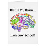This is my brain...Law School Greeting Card