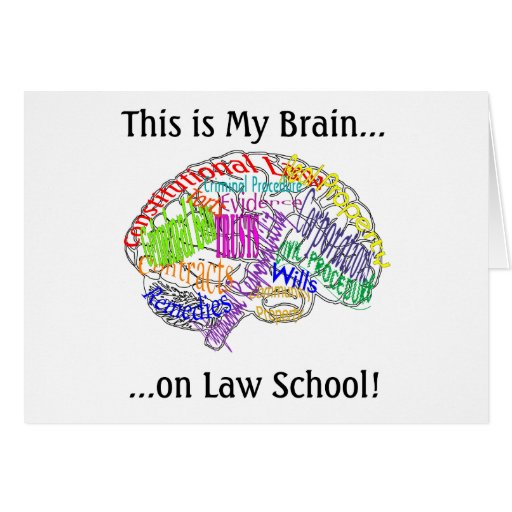 This is my brain...Law School Greeting Cards