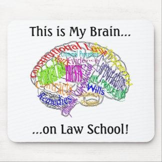This is my brain...Law School Mouse Pad